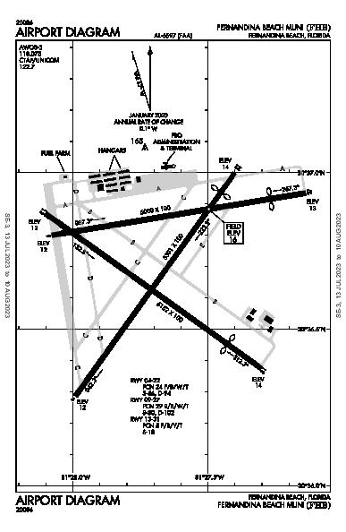 Fernandina Beach Muni Airport (Fernandina Beach, FL): KFHB Airport Diagram