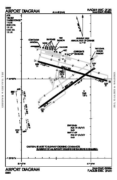 Flagler Exec Airport (Palm Coast, FL): KFIN Airport Diagram
