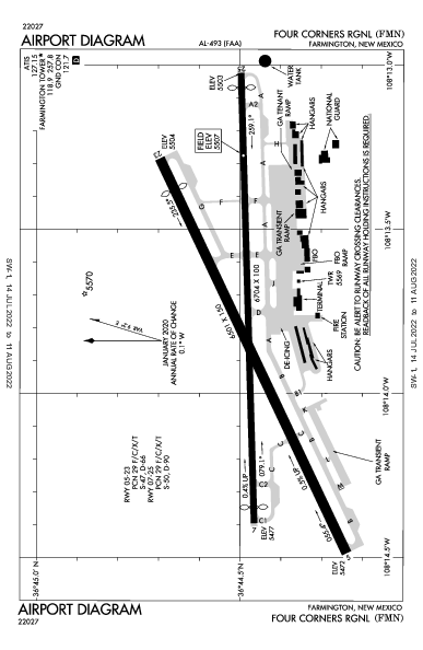 Four Corners Rgnl Airport (فارمينغتون، نيومكسيكو): KFMN Airport Diagram