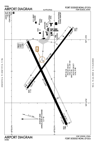 Fort Dodge Rgnl Airport (Fort Dodge, IA): KFOD Airport Diagram