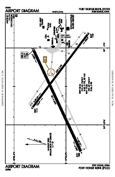 Fort Dodge Rgnl Airport (Fort Dodge, IA): KFOD Airport Diagram