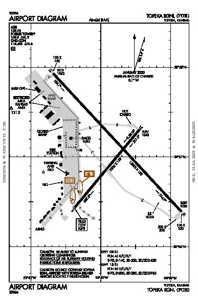 Topeka Rgnl Airport (Topeka, KS): KFOE Airport Diagram