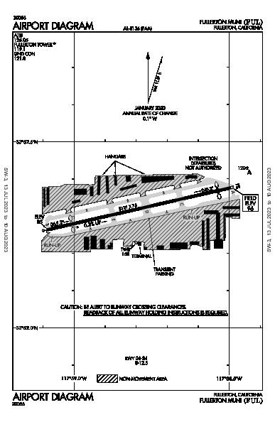 Fullerton Muni Airport (Fullerton, CA): KFUL Airport Diagram