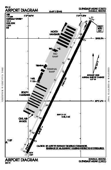 Glendale Muni Airport (Glendale, AZ): KGEU Airport Diagram