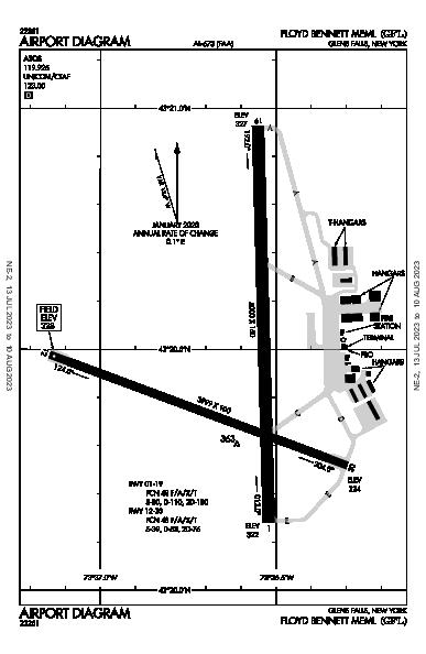 Floyd Bennett Memorial Airport (Glens Falls, NY): KGFL Airport Diagram