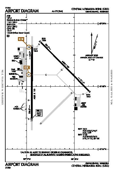 Central Nebraska Rgnl Airport (Grand Island, NE): KGRI Airport Diagram