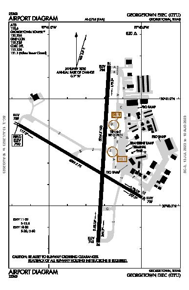 Georgetown Muni Airport (Georgetown, TX): KGTU Airport Diagram