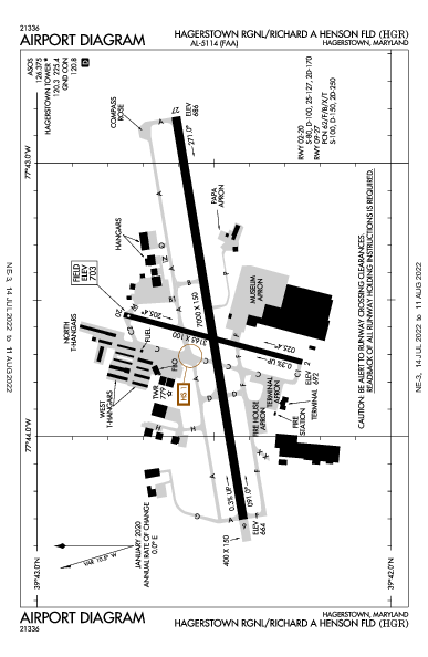 Hagerstown Rgnl Airport (Hagerstown, MD): KHGR Airport Diagram