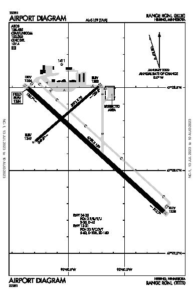 Range Rgnl Airport (Hibbing, MN): KHIB Airport Diagram