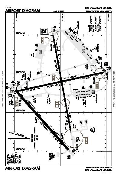 Holloman Afb Airport (Alamogordo, NM): KHMN Airport Diagram