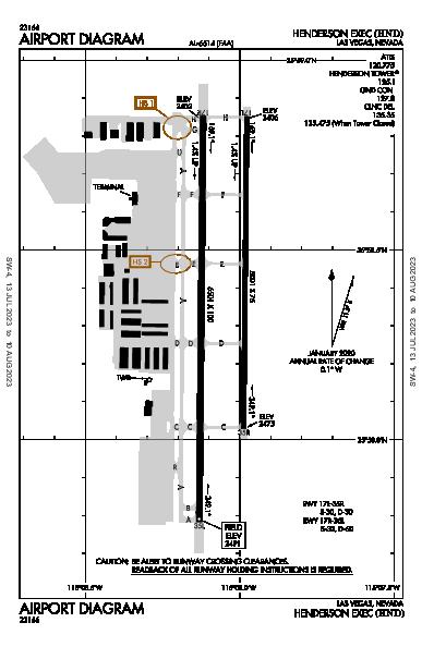 Henderson Executive Airport (Las Vegas, NV): KHND Airport Diagram