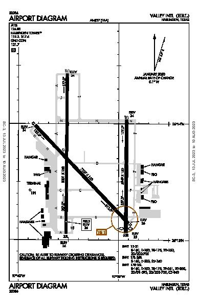 Valley Intl Airport (Harlingen, TX): KHRL Airport Diagram