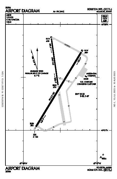 Houlton Intl Airport (Houlton, ME): KHUL Airport Diagram