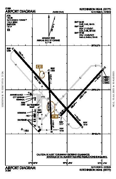 Hutchinson Rgnl Airport (Hutchinson, KS): KHUT Airport Diagram