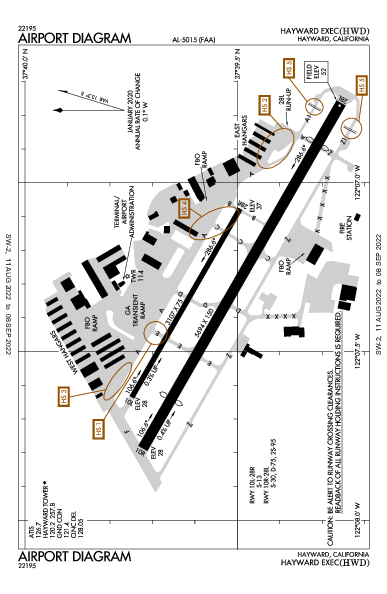 Hayward Exec Airport (Hayward, CA): KHWD Airport Diagram