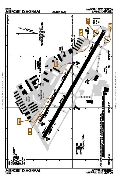 Hayward Executive Airport (Hayward, CA): KHWD Airport Diagram