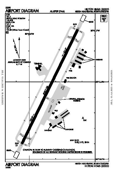 Hilton Head Airport (Hilton Head Island, SC): KHXD Airport Diagram