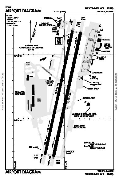 Mc Connell Afb Airport (Wichita, KS): KIAB Airport Diagram