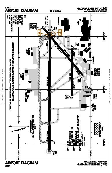 Niagara Falls Intl Airport (Niagara Falls, NY): KIAG Airport Diagram