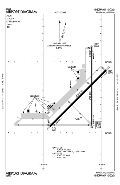 Kingman Airport (Kingman, AZ): KIGM Airport Diagram
