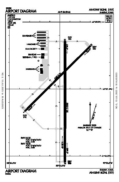 Ankeny Rgnl Airport (Ankeny, IA): KIKV Airport Diagram