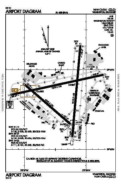 New Castle Airport (Wilmington, DE): KILG Airport Diagram