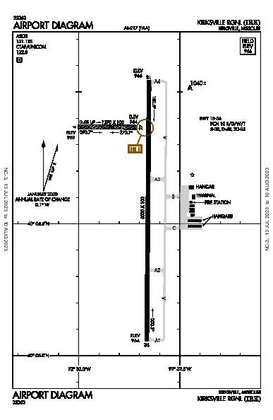 Kirksville Rgnl Airport (Kirksville, MO): KIRK Airport Diagram
