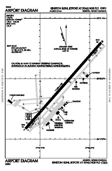 Kinston Rgnl Airport (Kinston, NC): KISO Airport Diagram