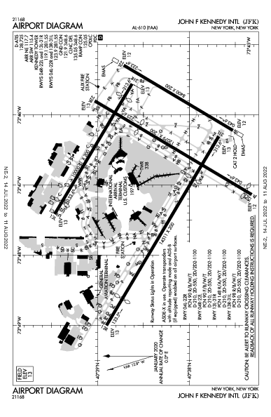 internazionale John F. Kennedy Airport (New York, NY): KJFK Airport Diagram