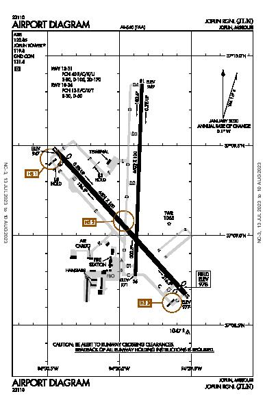 Joplin Rgnl Airport (Joplin, MO): KJLN Airport Diagram