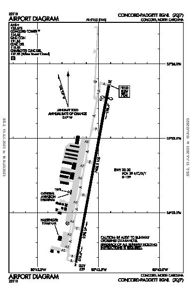 Concord Rgnl Airport (Concord, NC): KJQF Airport Diagram