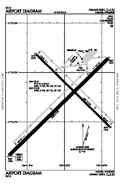 Laramie Rgnl Airport (래러미): KLAR Airport Diagram