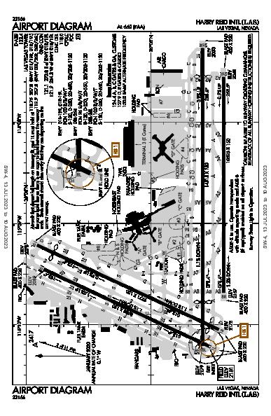 Int'l di Las Vegas Airport (Las Vegas, NV): KLAS Airport Diagram
