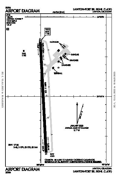 Lawton-Fort Sill Rgnl Airport (Lawton, OK): KLAW Airport Diagram