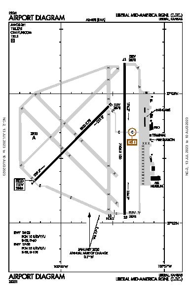 Liberal Mid-America Rgnl Airport (Liberal, KS): KLBL Airport Diagram