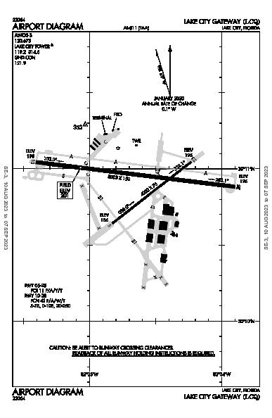 Lake City Gateway Airport (Lake City, FL): KLCQ Airport Diagram
