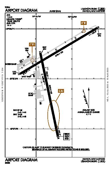 Lebanon Muni Airport (Lebanon, NH): KLEB Airport Diagram