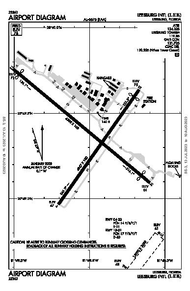 Leesburg Intl Airport (Leesburg, FL): KLEE Airport Diagram