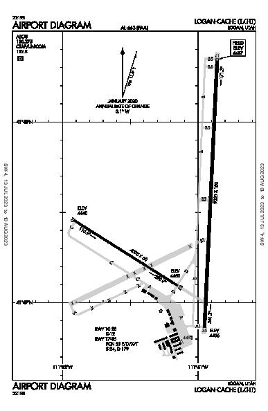 Logan-Cache Airport (Logan, UT): KLGU Airport Diagram
