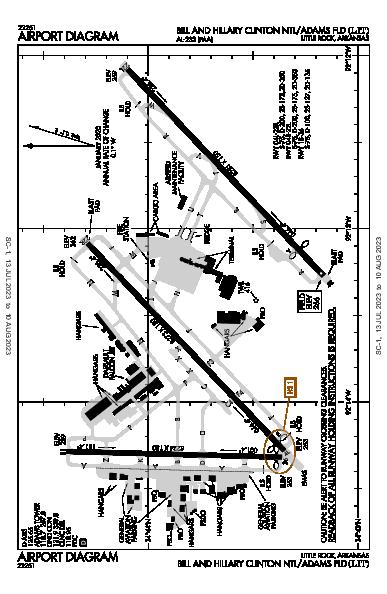 Adams Field Airport (Little Rock, AR): KLIT Airport Diagram