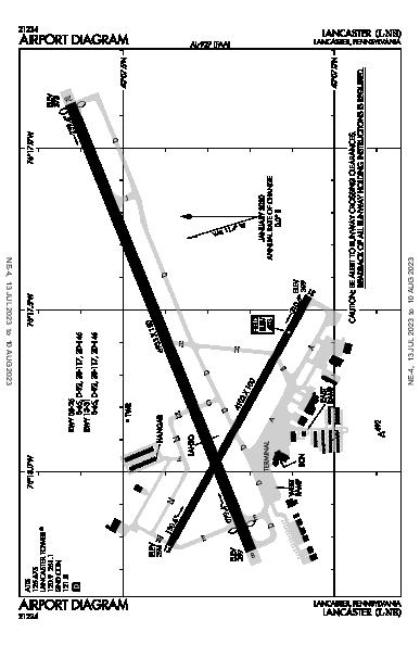 Lancaster Airport (Lancaster, PA): KLNS Airport Diagram