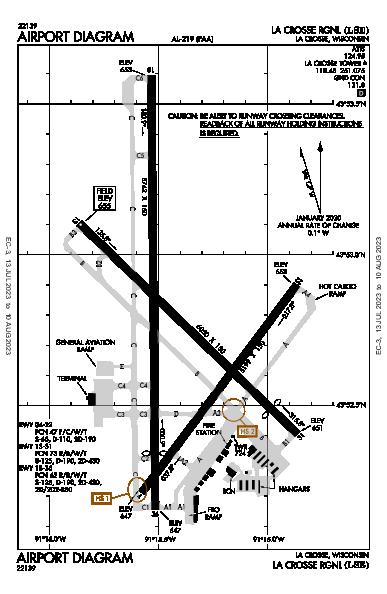 La Crosse Rgnl Airport (La Crosse, WI): KLSE Airport Diagram