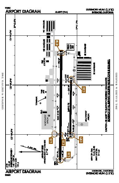 Livermore Muni Airport (Livermore, CA): KLVK Airport Diagram