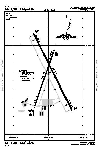Lawrence Muni Airport (Lawrence, KS): KLWC Airport Diagram