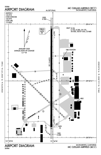 Sacramento McClellan Airport (Sacramento, CA): KMCC Airport Diagram