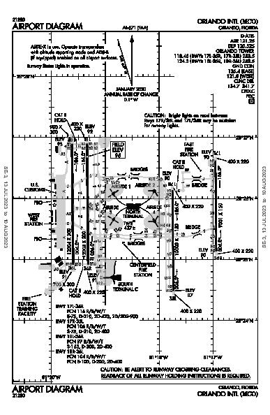 Int'l de Orlando Airport (Orlando, FL): KMCO Airport Diagram