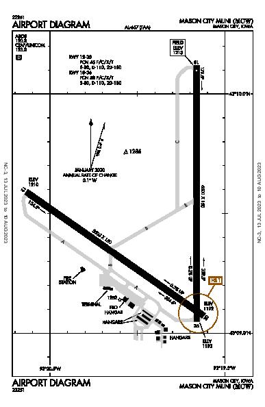 Mason City Muni Airport (Mason City, IA): KMCW Airport Diagram