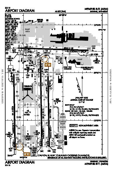 Memphis Intl Airport (Memphis, TN): KMEM Airport Diagram