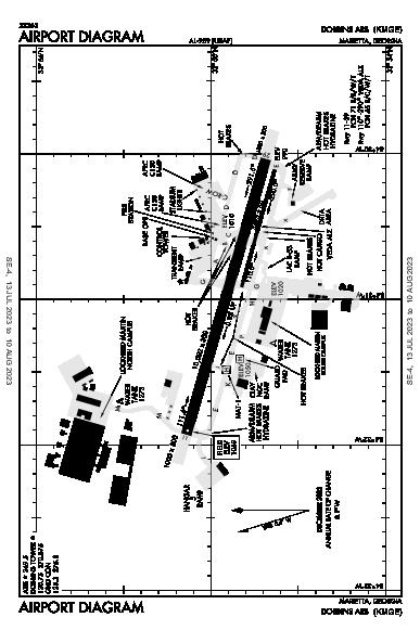 Dobbins Air Airport (Marietta, GA): KMGE Airport Diagram