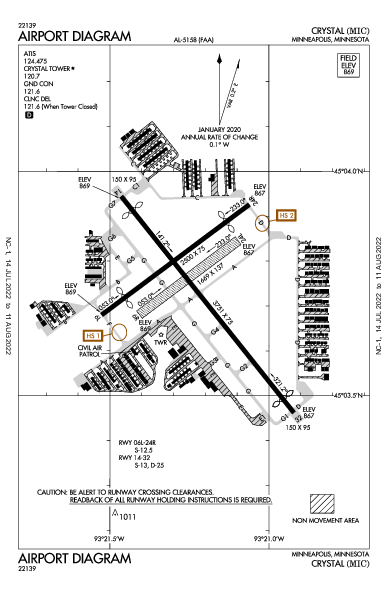 Crystal Airport (Minneapolis, MN): KMIC Airport Diagram